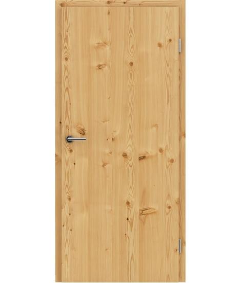 Furnierte Innentür mit längsverlaufender Struktur GREENline – Lärche astig gebürstet naturlackiert
