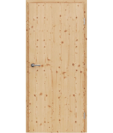 Furnierte Innentür mit längsverlaufender Struktur GREENline – Lärche astig gebürstet matt gebeizt lackiert