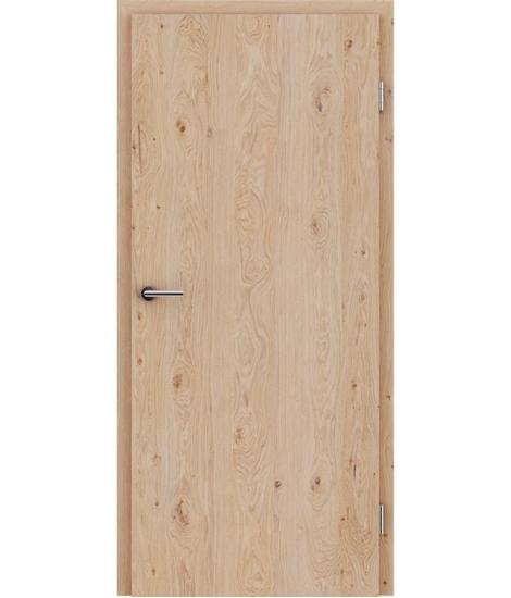 Furnierte Innentür mit längsverlaufender Struktur GREENline – Eiche astig weiß-geölt