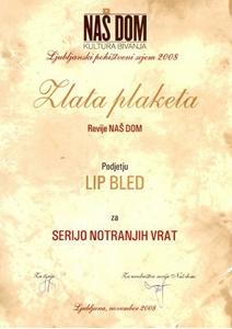 Bild von Goldene Plakette der Zeitschrift NAŠ DOM – Wohnkultur