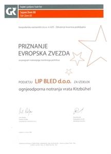 """Bild von 1. Preis """"der Europäische Stern 2008"""" für das Türmodell Kitzbühl"""