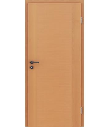 furnirana notranja vrata s kombinirano pokončno in prečno strukturo VIVACEline - F1 bukev lakirana