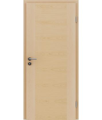 furnirana notranja vrata s kombinirano pokončno in prečno strukturo VIVACEline - F1 javor