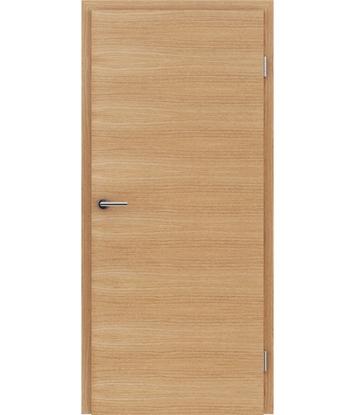 furnirana notranja vrata s kombinirano pokončno in prečno strukturo VIVACEline - F4 hrast evropski krtačen oljen