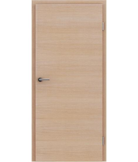 Furnierte Innentür mit einer Kombination aus längs- und/oder querverlaufenden Strukturen VIVACEline – F4 europäische Eiche gebürstet weiß-geölt