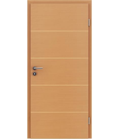 Furnierte Innentür mit einer Kombination aus längs- und/oder querverlaufenden Strukturen VIVACEline – F11 Buche Einlage Ahorn