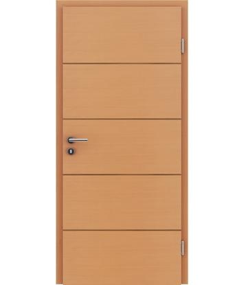 furnirana notranja vrata s kombinirano pokončno in prečno strukturo VIVACEline - F11 bukev vstavek oreh