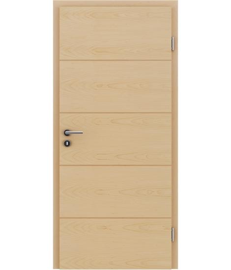 Furnierte Innentür mit einer Kombination aus längs- und/oder querverlaufenden Strukturen VIVACEline – F11 Ahorn Einlage Buche