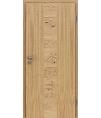 Furnierte Innentür mit einer Kombination aus längs- und/oder querverlaufenden Strukturen VIVACEline – F40 Eiche Einlage Eiche astig