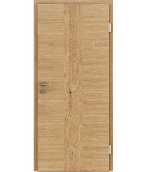 Furnierte Innentür mit einer Kombination aus längs- und/oder querverlaufenden Strukturen VIVACEline – F41 Eiche Einlage Eiche astig