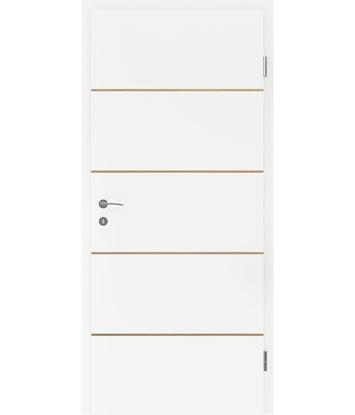 Weißlackierte Innentür mit Furniereinlagen BELLAline – FN1 weißlackiert, Einlage Eiche
