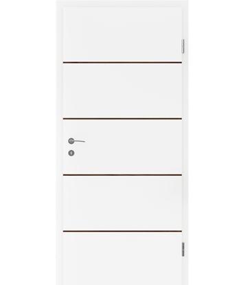Bild von Weißlackierte Innentür mit Furniereinlagen BELLAline – FN1 weißlackiert, Einlage Nussbaum