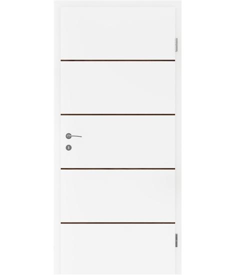 Weißlackierte Innentür mit Furniereinlagen BELLAline – FN1 weißlackiert, Einlage Nussbaum