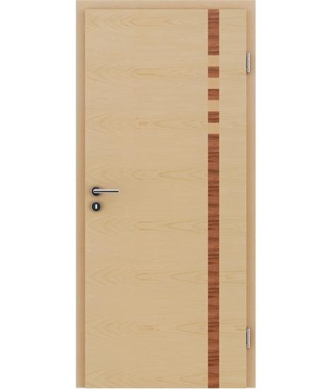 Furnierte Innentür mit Intarsieneinlagen HIGHline – I17 Ahorn, Intarsieneinlage indischer Apfelbaum und Ahorn