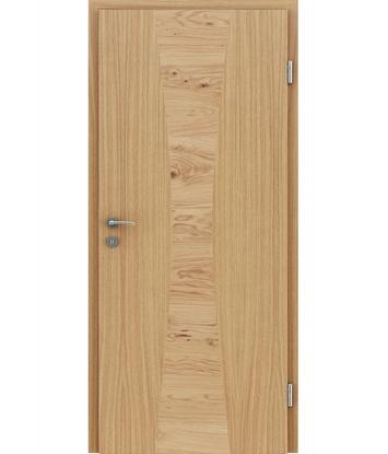 Bild von Furnierte Innentür mit Intarsieneinlagen HIGHline – I35 europäische Eiche Einlage Eiche astig