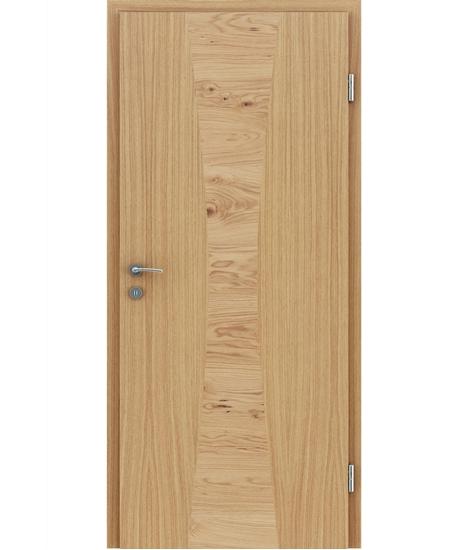 Furnierte Innentür mit Intarsieneinlagen HIGHline – I35 europäische Eiche Einlage Eiche astig
