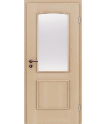 Bild von Furnierte Innentür mit dekorativen Leisten und Verglasung STILline – SOA SO3 Ahorn