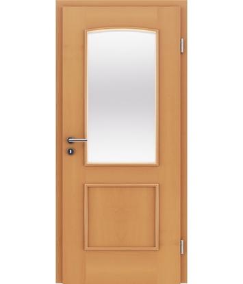Bild von Furnierte Innentür mit dekorativen Leisten und Verglasung STILline – SOAD SO3 Buche