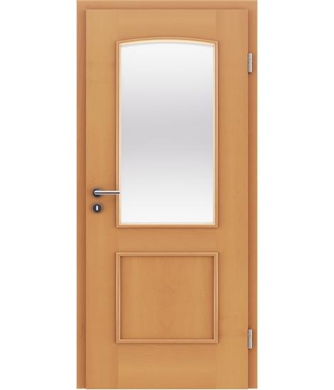 Furnierte Innentür mit dekorativen Leisten und Verglasung STILline – SOAD SO3 Buche