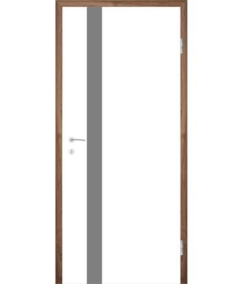Weißlackierte Innentür mit Rillenfräsungen COLORline – MODENA + R25L