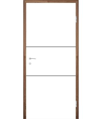Bild von Weißlackierte Innentür mit Rillenfräsungen COLORline – MODENA R11L
