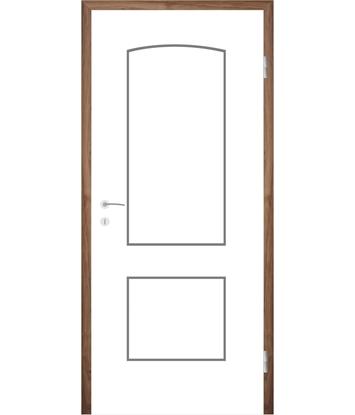 Bild von Weißlackierte Innentür mit Rillenfräsungen COLORline – MODENA R14L