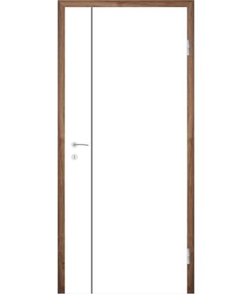 Bild von Weißlackierte Innentür mit Rillenfräsungen COLORline – MODENA R16L