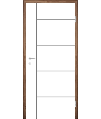 Bild von Weißlackierte Innentür mit Rillenfräsungen COLORline – MODENA R17L