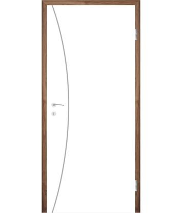 Bild von Weißlackierte Innentür mit Rillenfräsungen COLORline – MODENA R21L