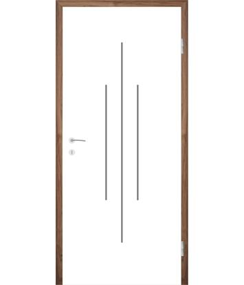 Bild von Weißlackierte Innentür mit Rillenfräsungen COLORline – MODENA R22L