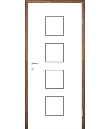 Bild von Weißlackierte Innentür mit Rillenfräsungen COLORline – MODENA R23L