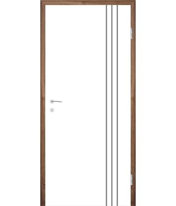 Bild von Weißlackierte Innentür mit Rillenfräsungen COLORline – MODENA R36L