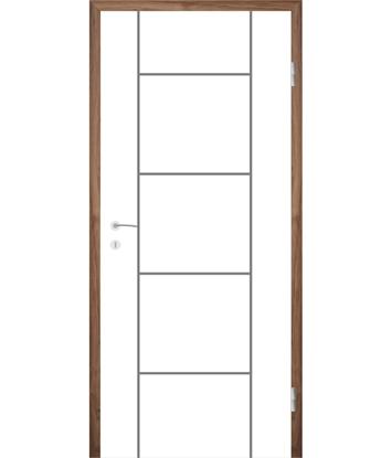 Bild von Weißlackierte Innentür mit Rillenfräsungen COLORline – MODENA R5L
