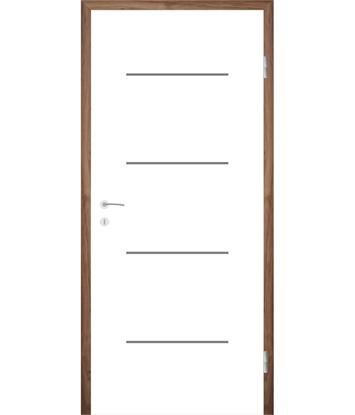 Bild von Weißlackierte Innentür mit Rillenfräsungen COLORline – MODENA R7L