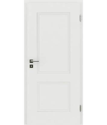 Bild von Weißlackierte Innentür mit reliefartiger Oberfläche KAISERline – R38L weißlackiert