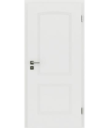Weißlackierte Innentür mit reliefartiger Oberfläche KAISERline – R40L mit Bogen, weißlackiert