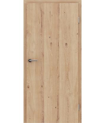 Furnierte Innentür mit längsverlaufender Struktur GREENline - Eiche astig rissig gebürstet weiß-geölt