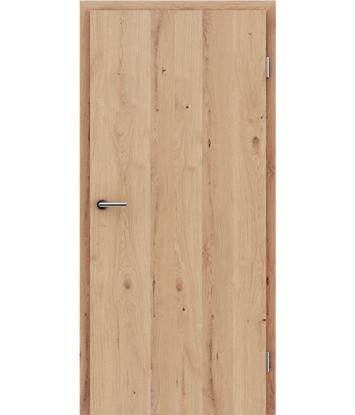 Furnierte Innentür mit längsverlaufender Struktur GREENline - Eiche astig rissig matt gebeizt lackiert