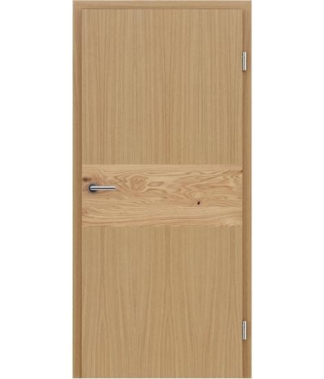 Furnierte Innentür mit Intarsieneinlagen HIGHline – I39 Eiche, Einlage Eiche astig