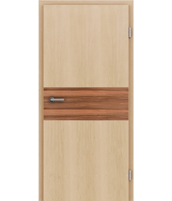 Bild von Furnierte Innentür mit Intarsieneinlagen HIGHline – I39 Ahorn, Einlage indischer Apfelbaum