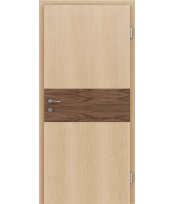 Bild von Furnierte Innentür mit Intarsieneinlagen HIGHline – I39 Ahorn, Einlage Nussbaum