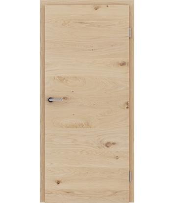 Bild von Furnierte Innentür mit einer Kombination aus längs- und/oder querverlaufenden Strukturen VIVACEline - F4 Eiche astig weiß-geölt
