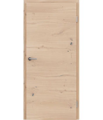 Bild von Furnierte Innentür mit einer Kombination aus längs- und/oder querverlaufenden Strukturen VIVACEline - F4 Eiche astig rissig weiß-geölt