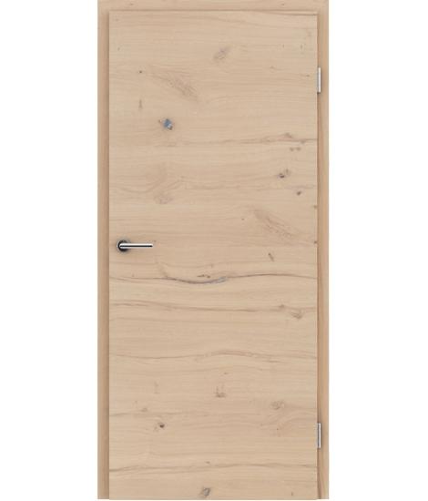 Furnierte Innentür mit einer Kombination aus längs- und/oder querverlaufenden Strukturen VIVACEline - F4 Eiche astig rissig gebürstet weiß-geölt