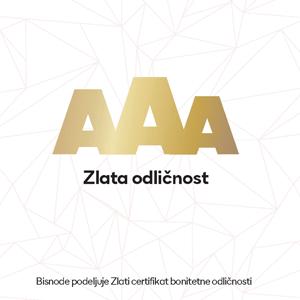 Bild von AAA Zertifikat für Top-Kreditrating für LIP BLED
