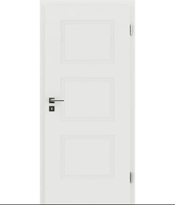 Bild von Weißlackierte Innentür mit reliefartiger Oberfläche KAISERline – R49L, weißlackiert