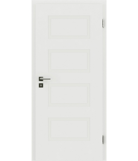 Weißlackierte Innentür mit reliefartiger Oberfläche KAISERline – R71L, weißlackiert