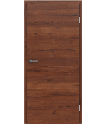 Furnierte Innentür mit einer Kombination aus längs- und/oder querverlaufenden Strukturen VIVACEline PRESTIGE - F4 Altholz matt lackiert